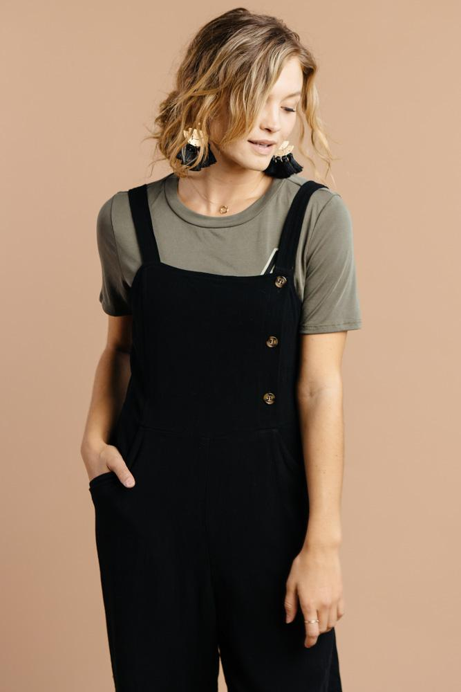 Avery Jumpsuit in Black $54.50