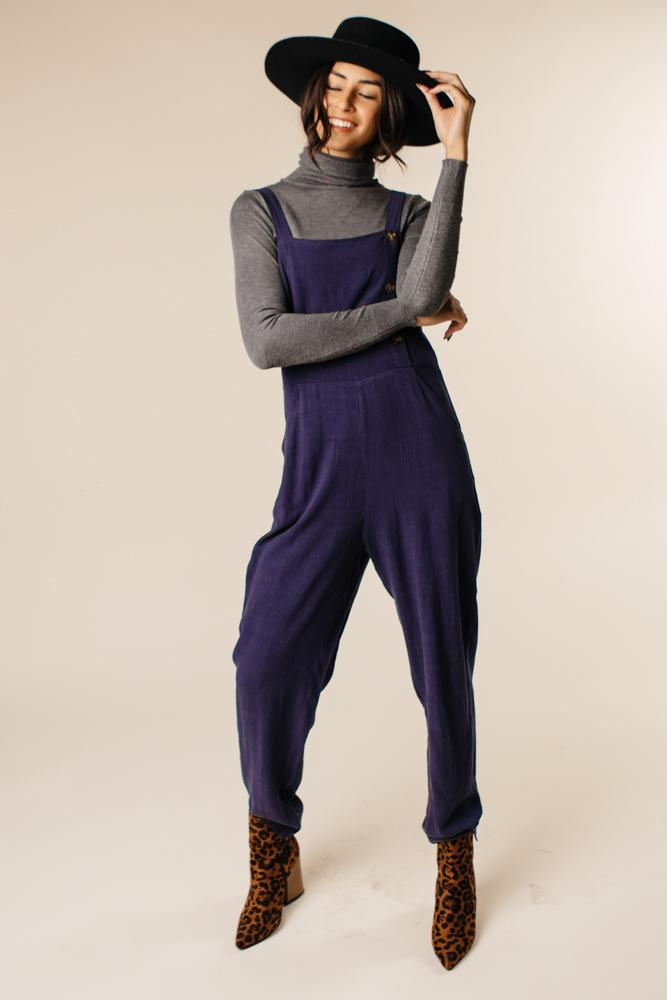 Avery Jumpsuit in Navy $38.50