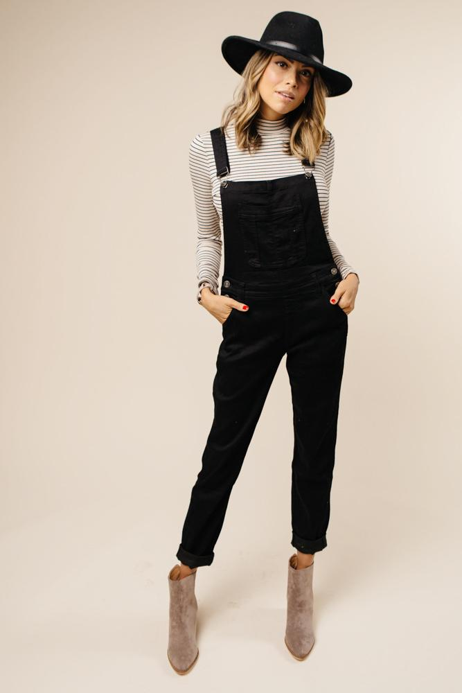 KanCan All in Black Overalls $58.50