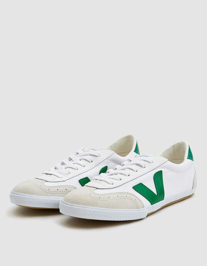 Veja Volley Canvas Sneaker in White Emerald $110
