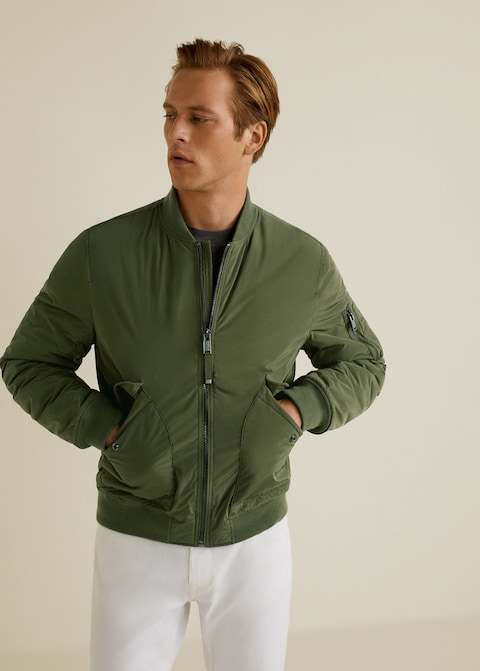 Quilted lining bomber jacket $99.99