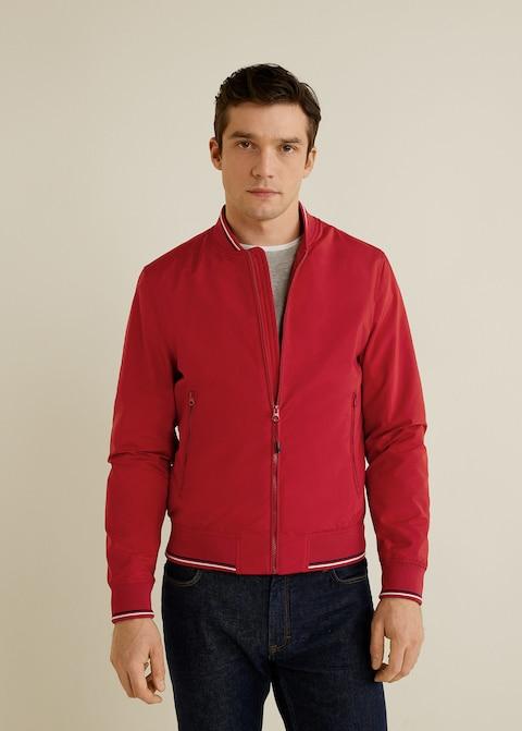 Contrast striped varsity jacket $89.99