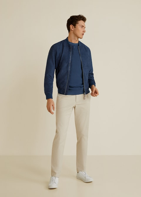 Faux suede bomber jacket $89.99