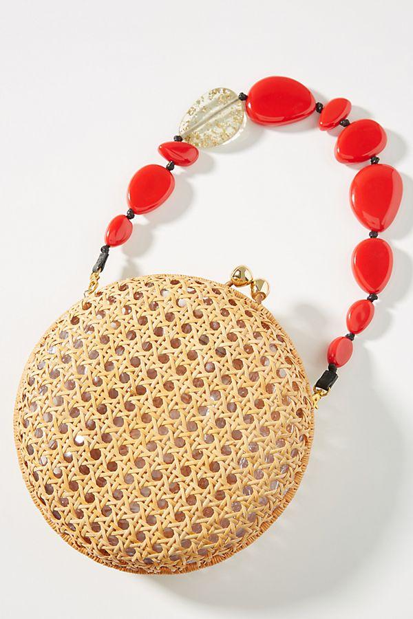 Serpui Marie Lizzy Wicker Circle Bag $338.00