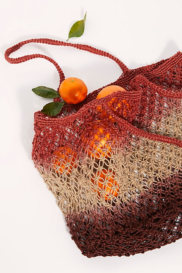 Wild Flower Ombre Jute Tote $58.00