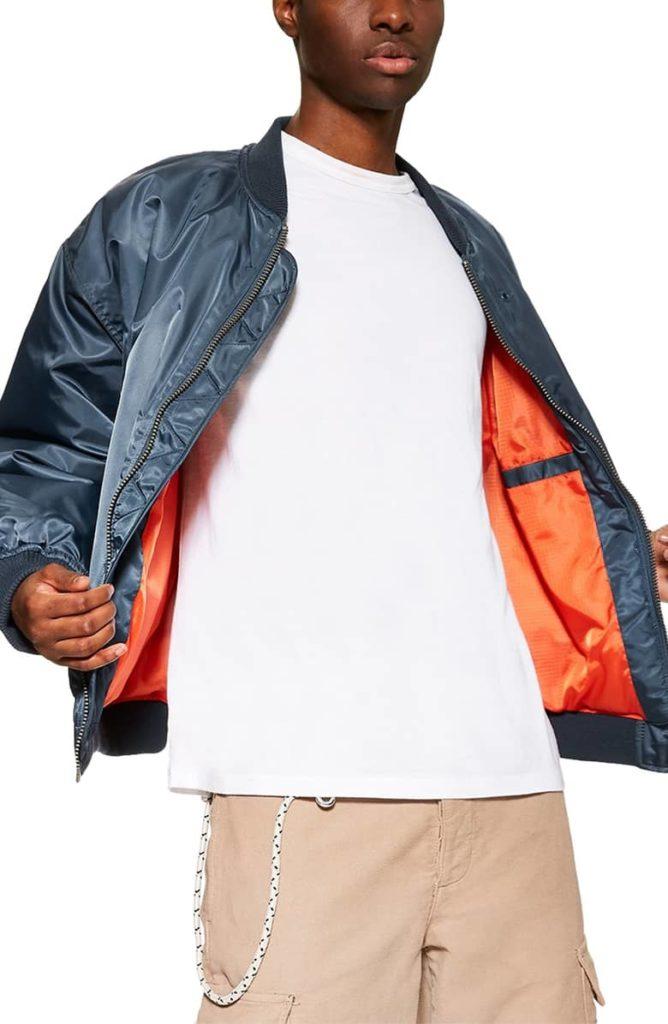 Oversize Bomber Jacket TOPMAN $100.00