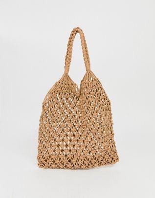 My Accessories London crochet woven shopper $29.00