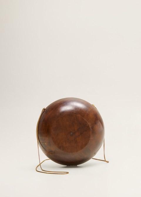 Wooden round bag $69.99