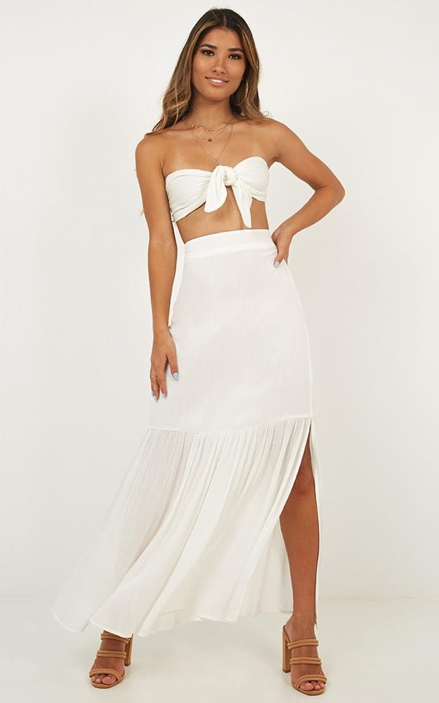 Free Minded Two Piece Set In White $61.95