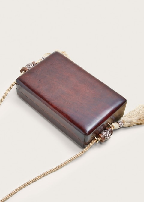 Wood box bag $79.99