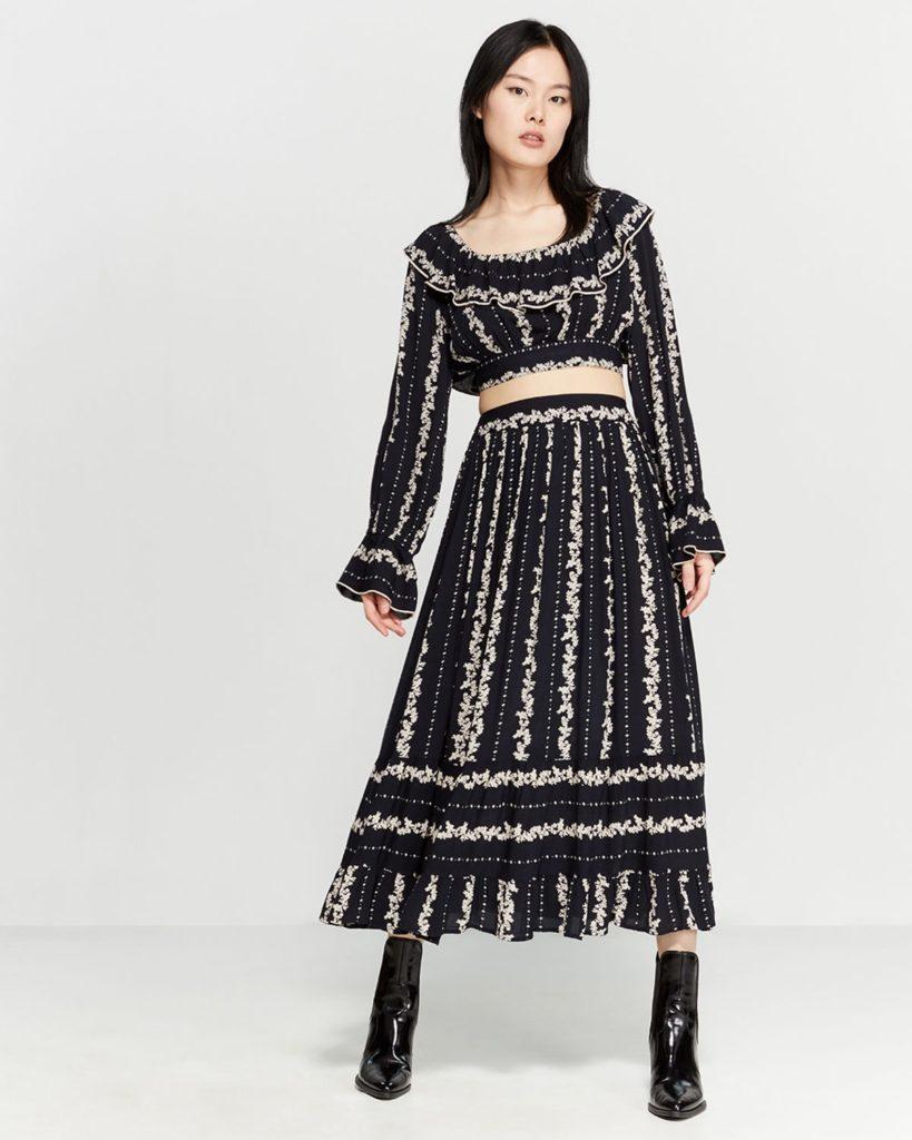 Lolita Two-Piece Crop Top & Skirt Set$69.99