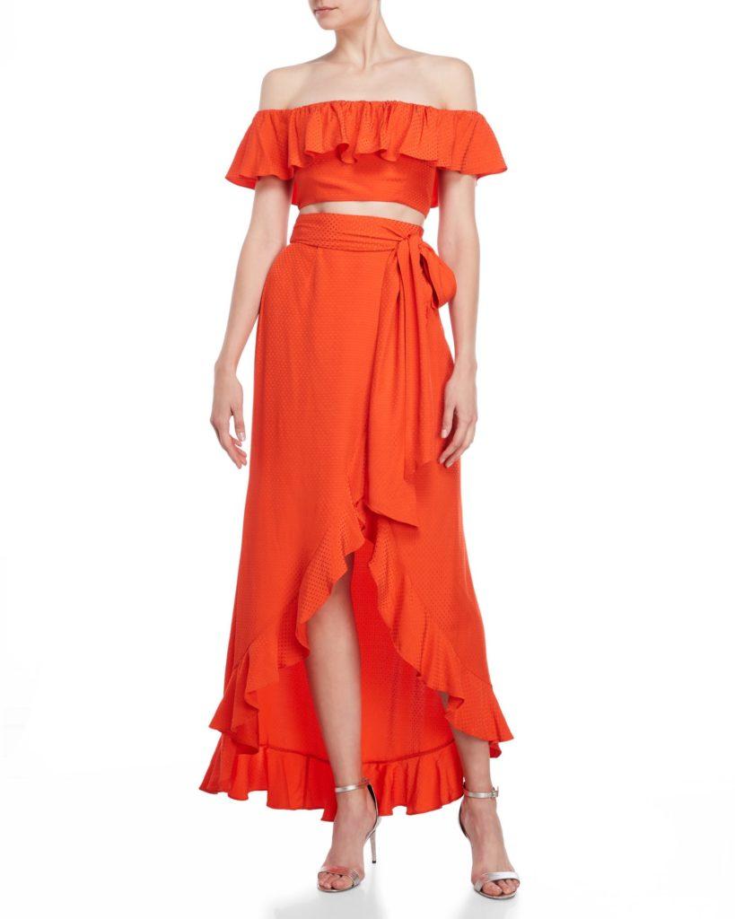 JAY GODFREY Two-Piece Loras Crop Top & Skirt Set $139.99