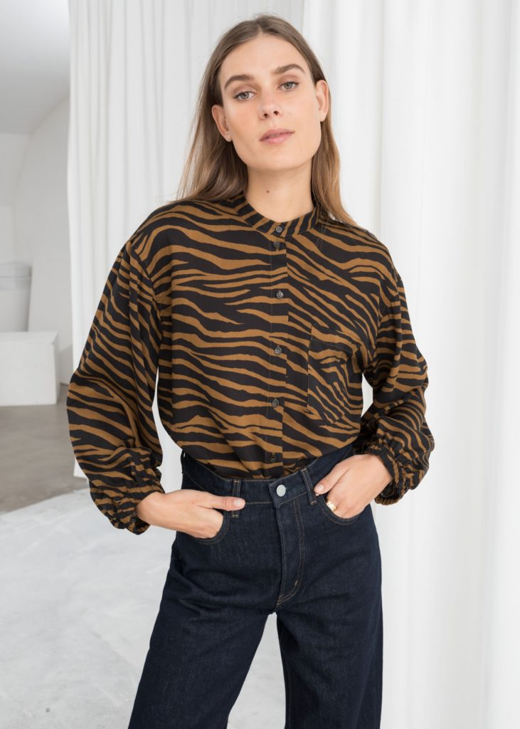 Zebra Print Button Up $69