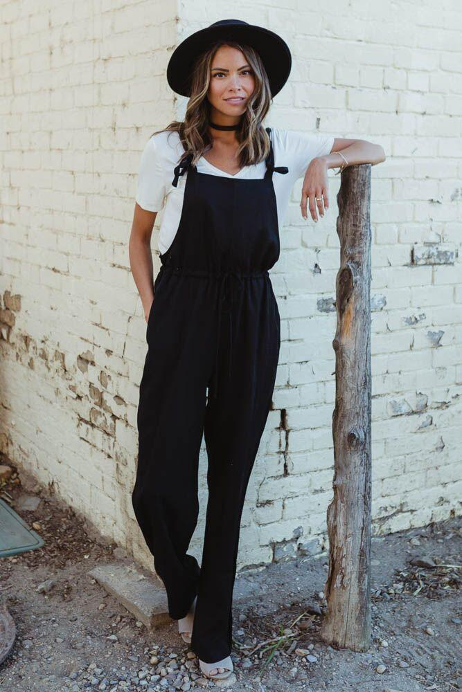 Height of Happiness Tie Strap Jumpsuit $54.50