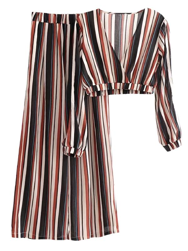 'SIENNA' STRIPED TWO PIECE SET (2 COLORS) $79