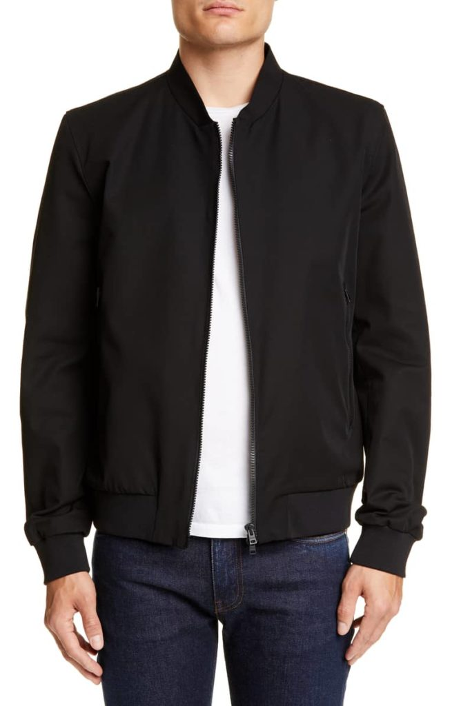 Stretch Cotton Bomber Jacket HERNO $875.00