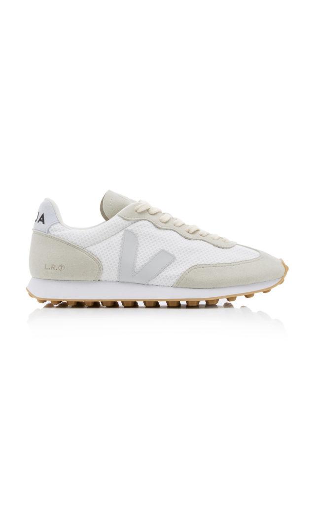 VEJA Suede-Trimmed Mesh Sneakers  $140