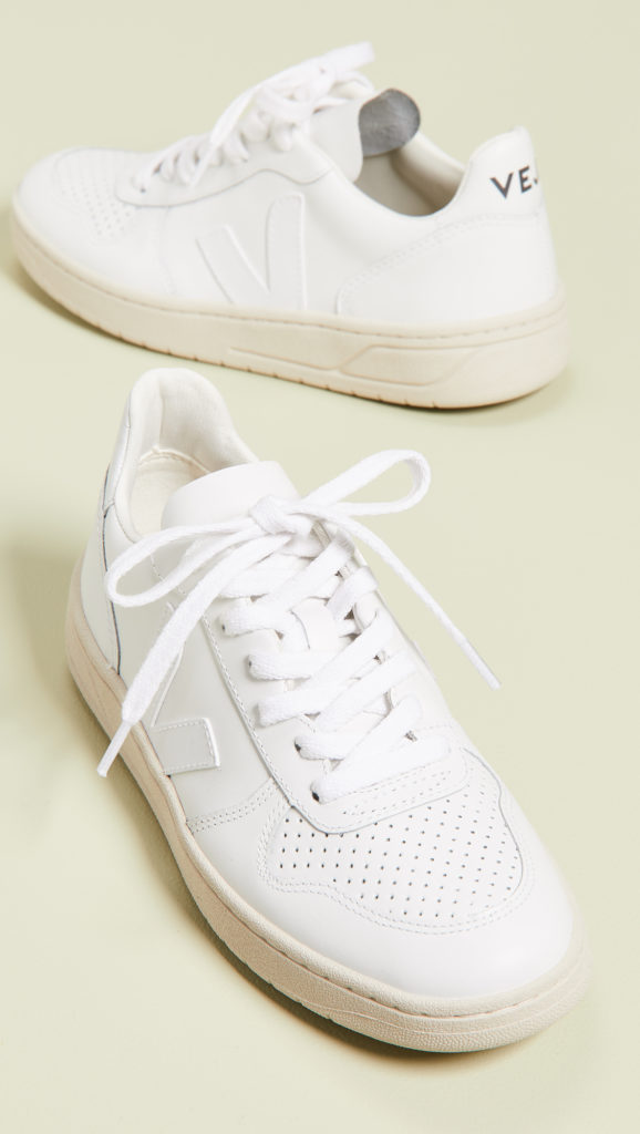 Veja V-10 Lace Up Sneakers $150.00