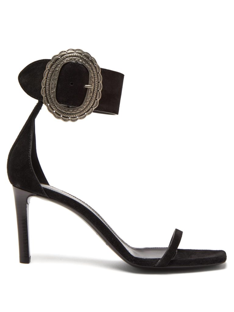 SAINT LAURENT  Joplin suede sandals $995