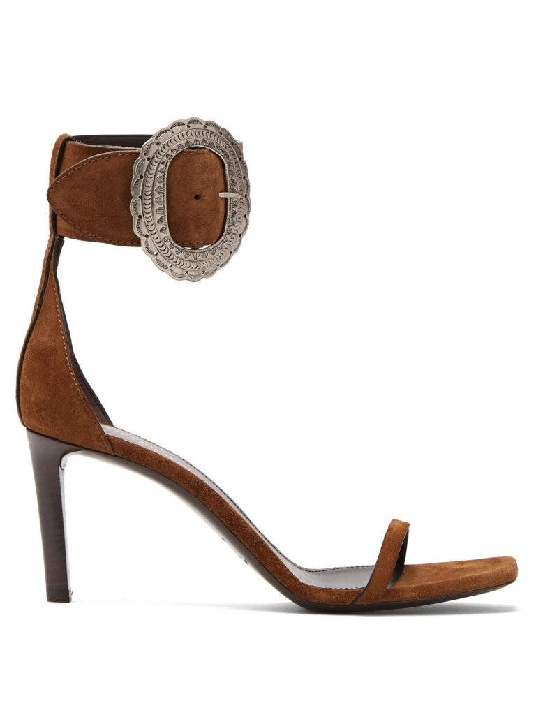 SAINT LAURENT  Joplin suede sandals$995