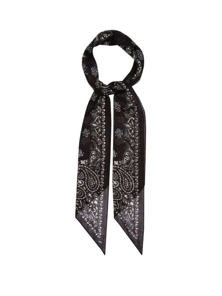 SAINT LAURENT Paisley-print wool bandana scarf $295