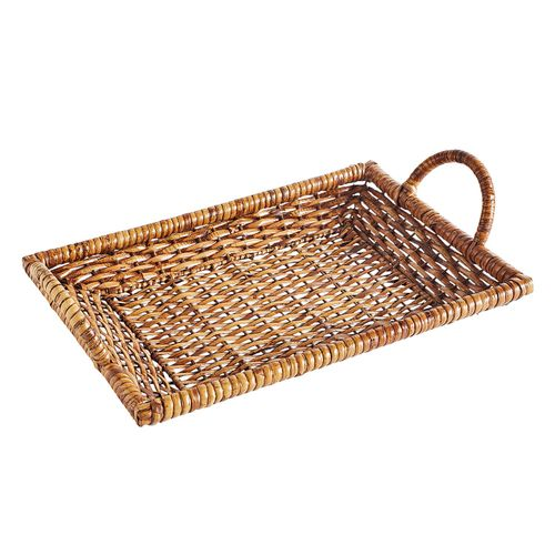 Rattan Platter with Handles $29.95