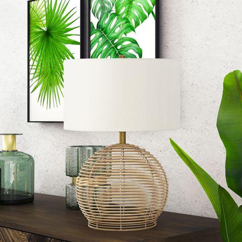 Battina Rattan Table Lamp $89.99 Rattan Outdoor Lantern LED