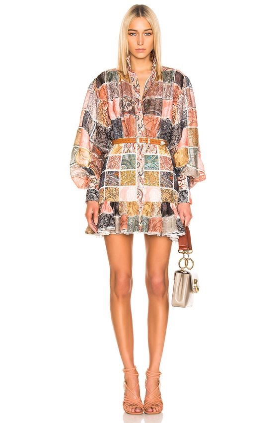 ZIMMERMANN Ninety Six Patch Mini Dress $2,350