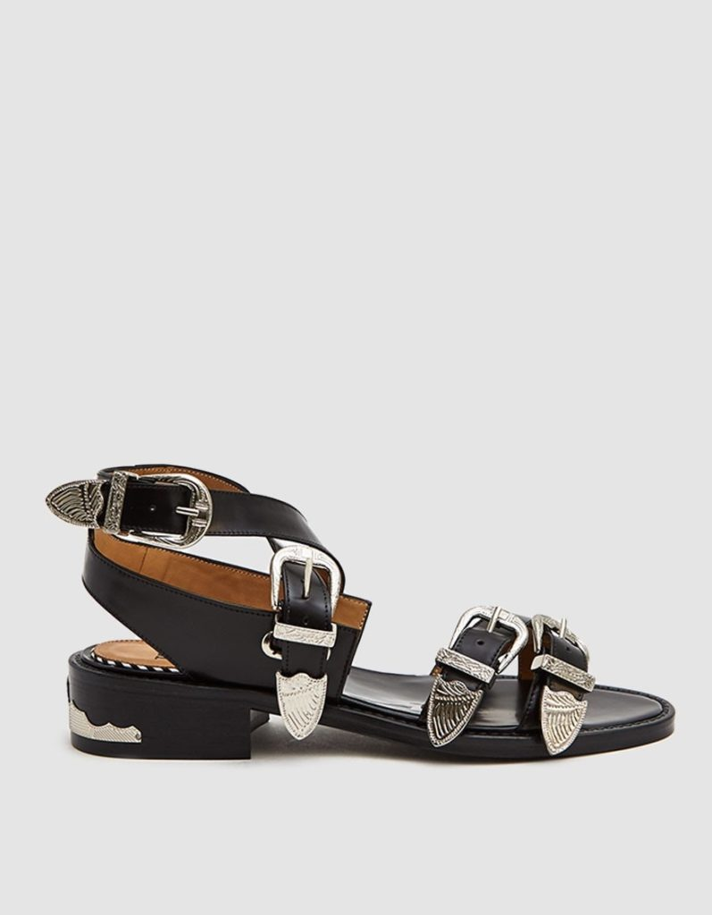 Toga Pulla AJ885 Leather Sandal in Black$460