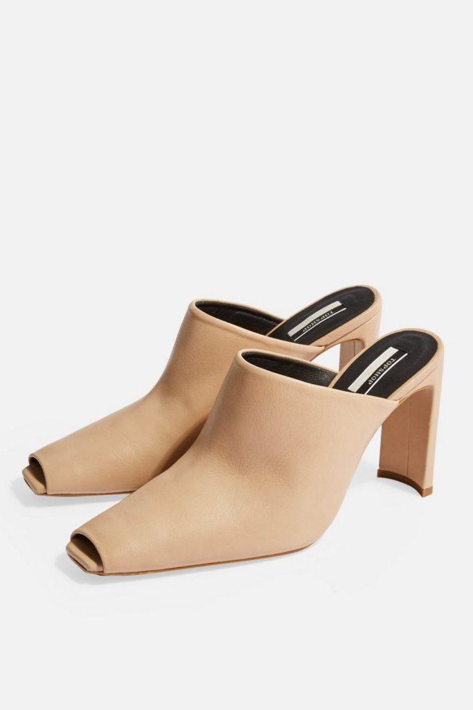 GENEVA Peep Toe Mules $120.00