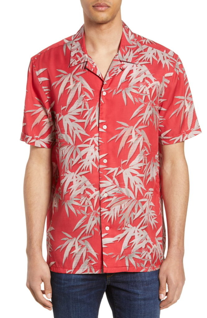 Bamboo Print Camp Shirt FRENCH CONNECTION $98.00