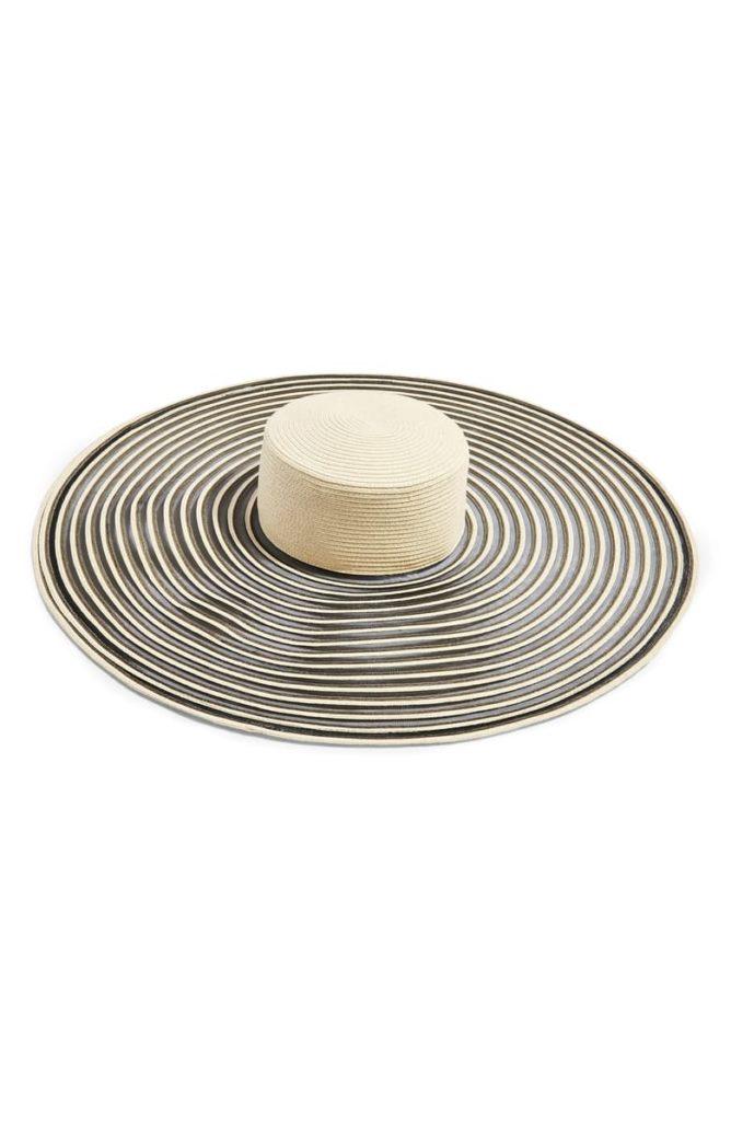 Oversize Stripe Straw Hat  $50.00