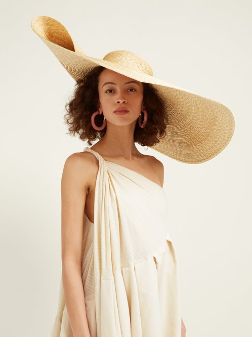 JACQUEMUS Bomba extra-large straw hat$423