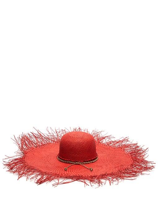 SENSI STUDIO Hippie oversized straw hat$215