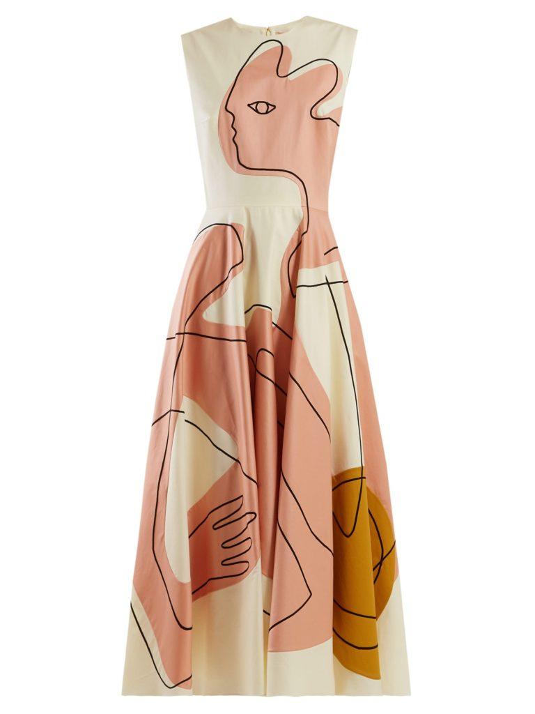 ROKSANDA Adalia face-sketch poplin dress$1,522