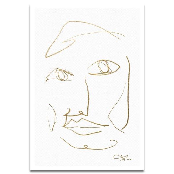 'Face III' Drawing Print $25.99