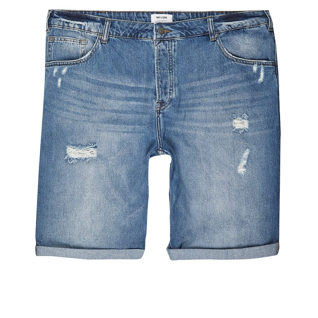 Only & Sons Big and Tall blue denim shorts$64.00