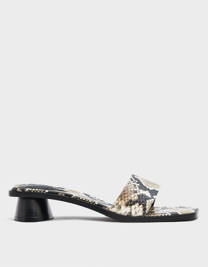 BY FAR Sonia Snake Print Leather Slide $375.00