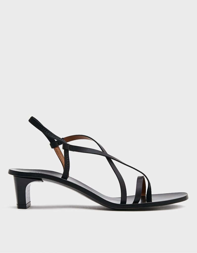 ATP Atelier Nashi Leather Heel in Black$390.00
