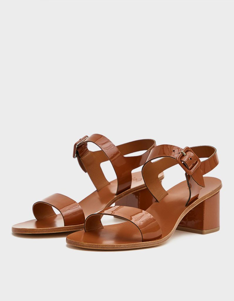 LoQ Altea Heeled Sandal in Flan $350.00