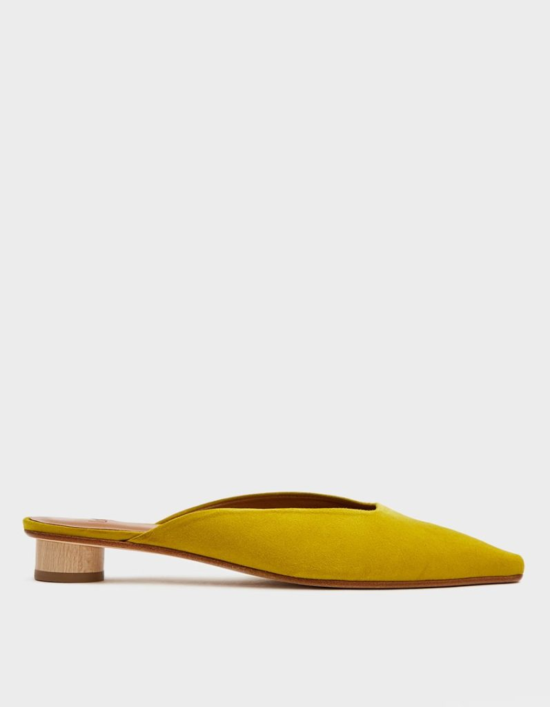 LoQ Carmen Suede Slide in Sulfur$325.00