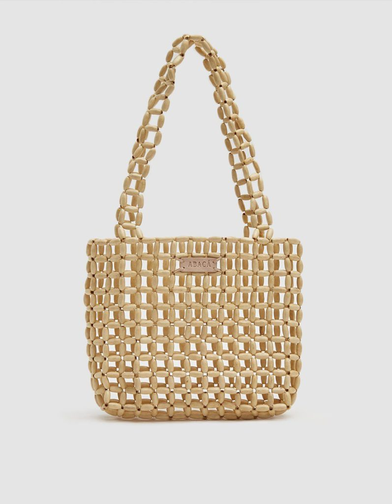 Abacá Sinta Wood Tote Bag $85.00