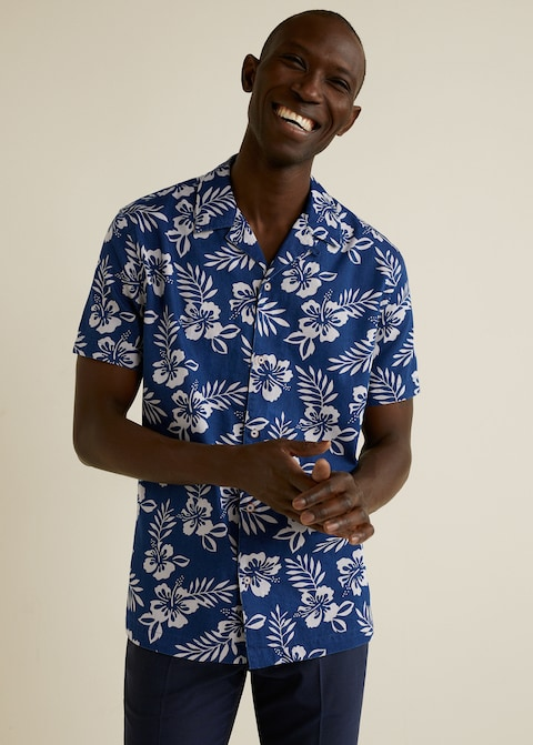 Regular-fit hawaiian print shirt $59.99