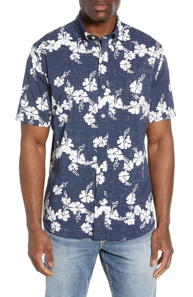 Aloha Intercoastal Short Sleeve Performance Button-Down Sport Shirt SOUTHERN TIDE $110.00