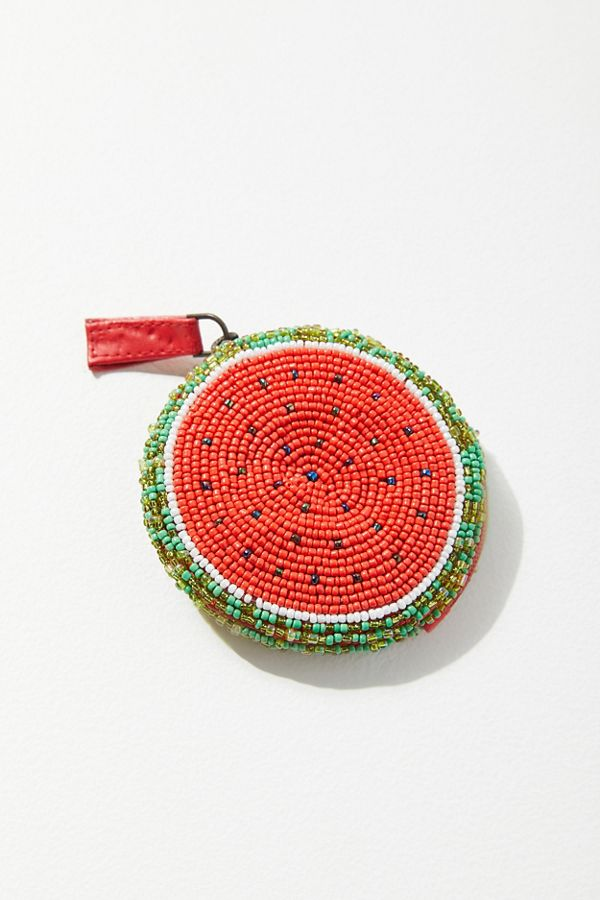 Beaded Watermelon Pouch $24.00