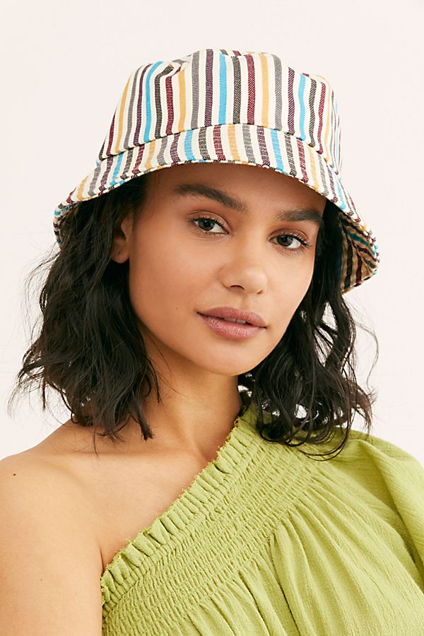 Stripe Throwback Bucket Hat $28.00