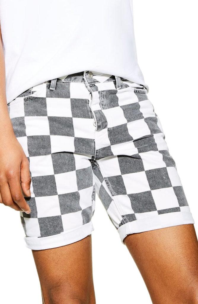 Skinny Check Shorts TOPMAN $65.00