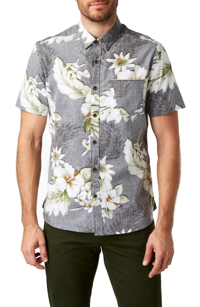 Tempest Garden Slim Fit Sport Shirt 7 DIAMONDS $69.00