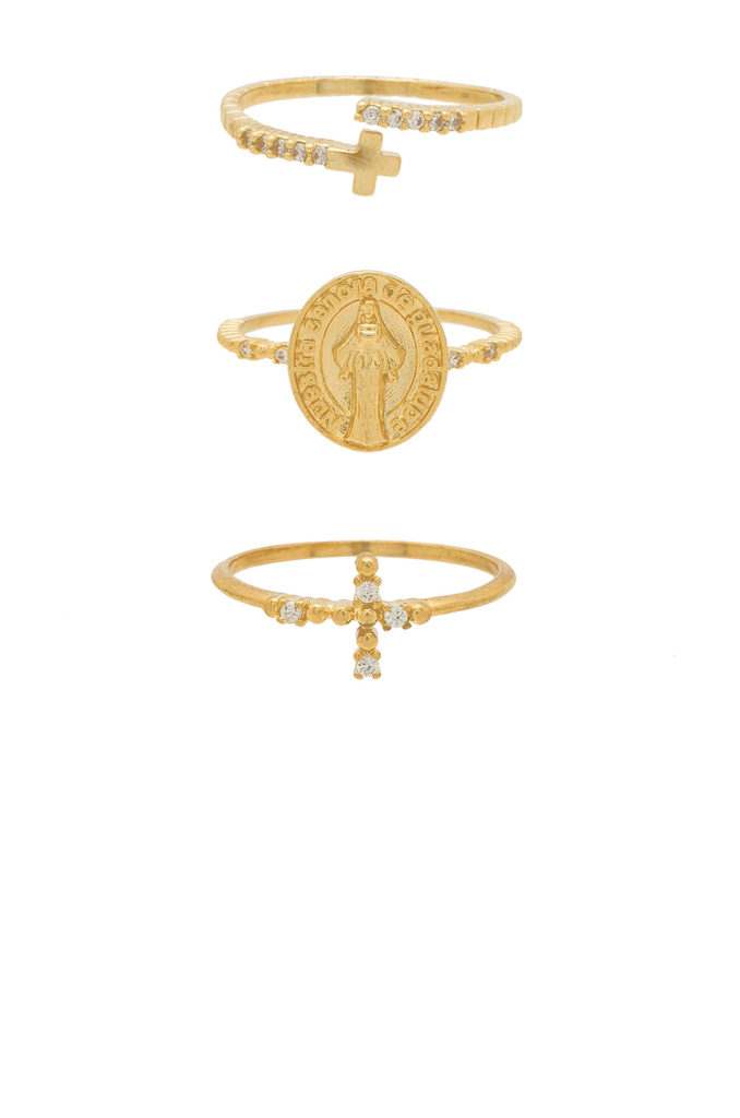 Faithful Ring Set  Ettika $55