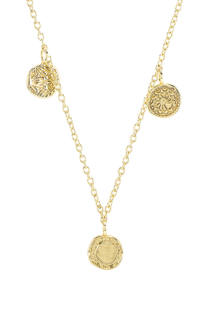 Cruz Mixed Coin Necklace gorjana $65